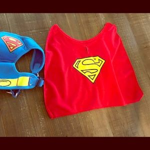 Other - Super Man dog harness with cape.